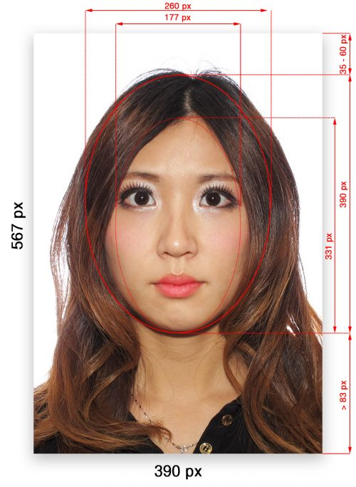 Chinese Digital Passport Visa Photo Specification